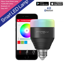 5W E27 MIPOW Playbulb Bluetooth Smart LED Light Bulbs APP Smartphone Group Controlled Dimmable Color Changing Smart illumination