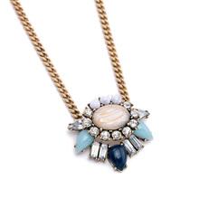 Women Simple Stone Flowers Pendant Necklace Pop Midsummer Designer Jewelry Factory Wholesale