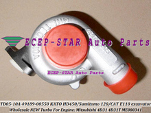 49178-00530 49178-00550 ME080341 Turbocharger For KATO HD300 HD400 HD450 Sumitomo 120 / Cat E110 excavator Mitsubishi 4D31 4D31T
