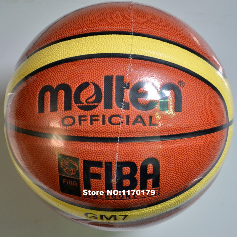 2016 Brand Genuine Molten GM7 Basketball Ball PU Materia Official Size7 Basketball Free With Net + Needle(China (Mainland))
