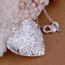 Buy wholesale silver plated pendant,925 fashion Silver jewelry Heart pendants necklace women/men +chain SP185 for $1.22 in AliExpress store