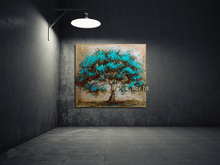 Buy Hand Made Oil Painting Canvas Tree Red Flower Oil Painting Abstract Modern Canvas Wall Art Living Room Decor Picture for $7.65 in AliExpress store