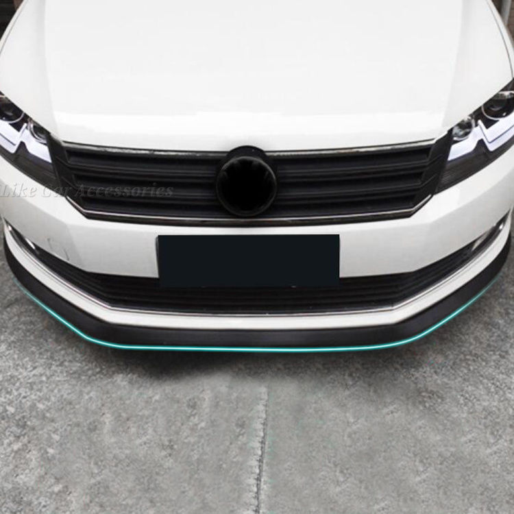 "Car Front Bumper Lip Splitter Spoiler Chin Lip Skirt Protector,2""x98"",For Acura MDX NSX RDX RL RSX SLX TL TSX ZDX all car(China (Mainland))"