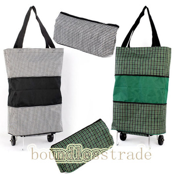 Free shipping Funky design durable folding Wheeled Shopping Trolley Bag Fold Away Storage_SP104