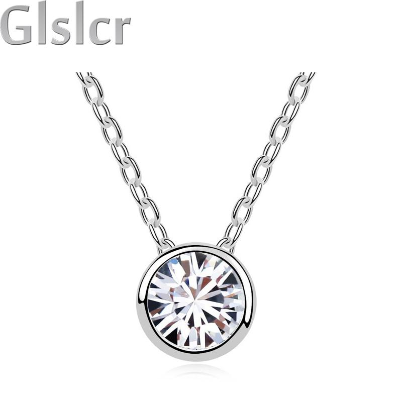 2016 party wedding fashion Brand import zircon classic 18K Gold plated chocker short chain Necklace pendants jewelry 84428(China (Mainland))