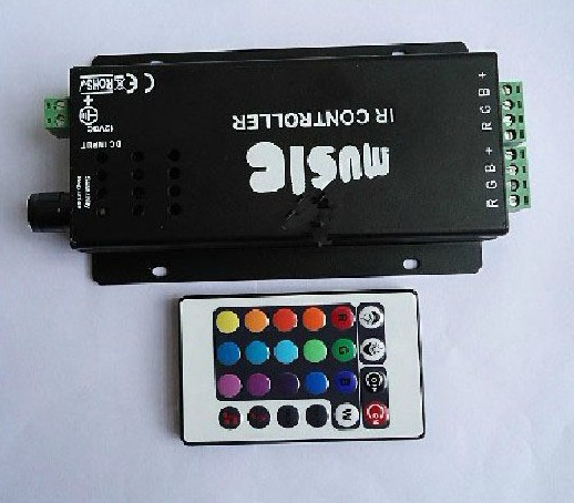 LED Audio Controller 144W 12V music sound IR controller for led strip light(China (Mainland))