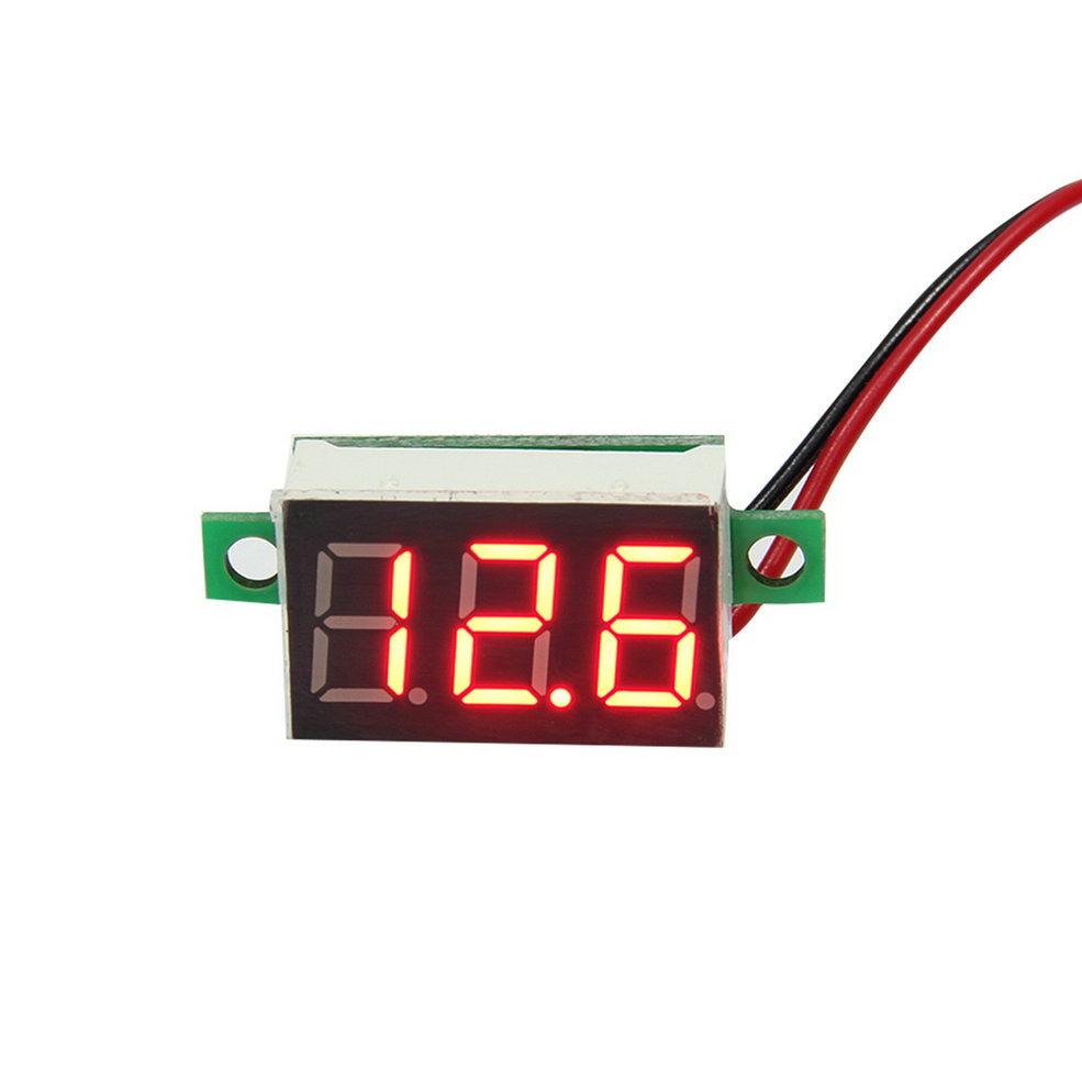 2 pcs 2016 New Arrival LCD digital voltmeter ammeter voltimetro Red LED Amp amperimetro Volt Meter Gauge voltage meter DC(China (Mainland))