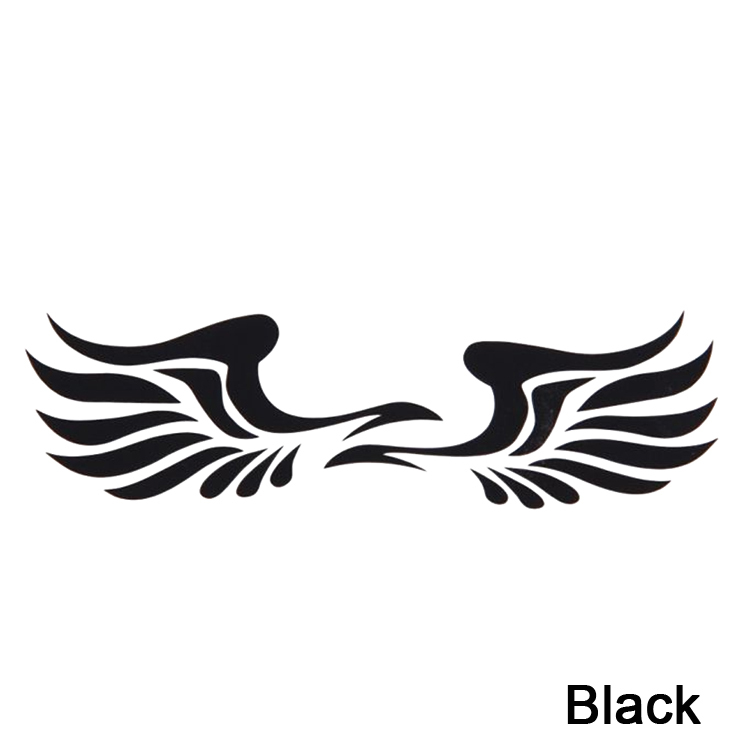 Newly Arrival Trendy 1 Pair Personality Fire Wings Image Side Mirror Car Stickers Color Yellow White