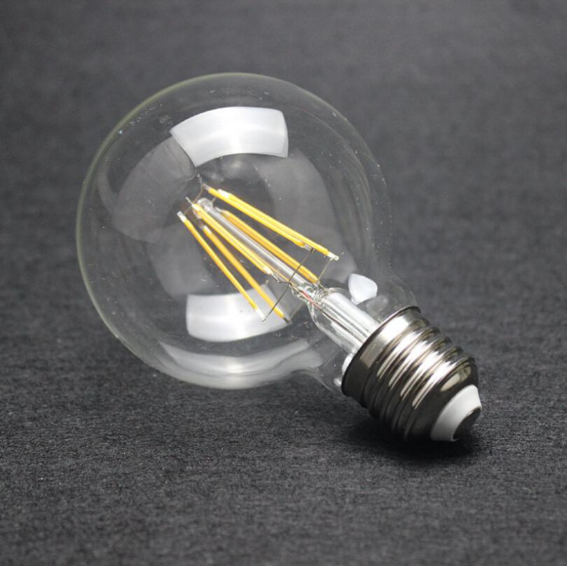 Free Shipping G95 4W/6W/8W Incandescent Vintage Bulb E27 Globe Retro Edison Light Bulb 220V Decoration Style For Home Holiday(China (Mainland))