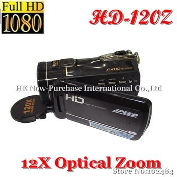New Wholesale HD-120Z 1080i HD 20MP Camcorder for Youtube Users with 12X Optical Zoom,Max 20X Zoom