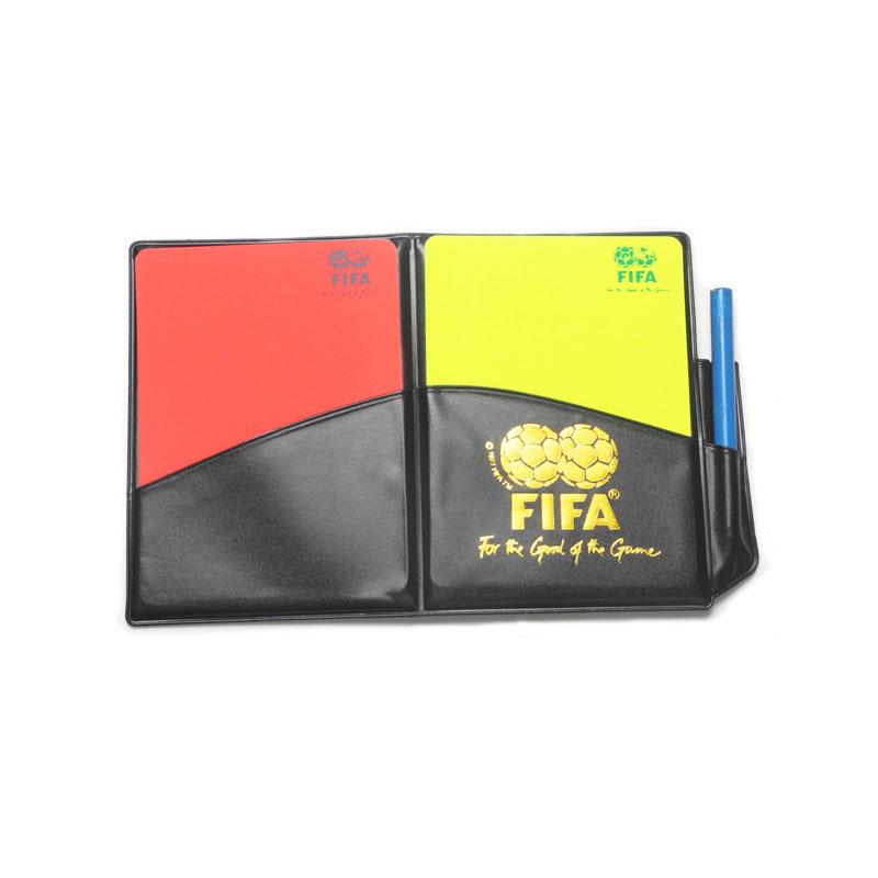 Judge Card Soccer Referee Wallet Plastic Cards Football Match Case Red Card and Yellow Card With Pencil(China (Mainland))