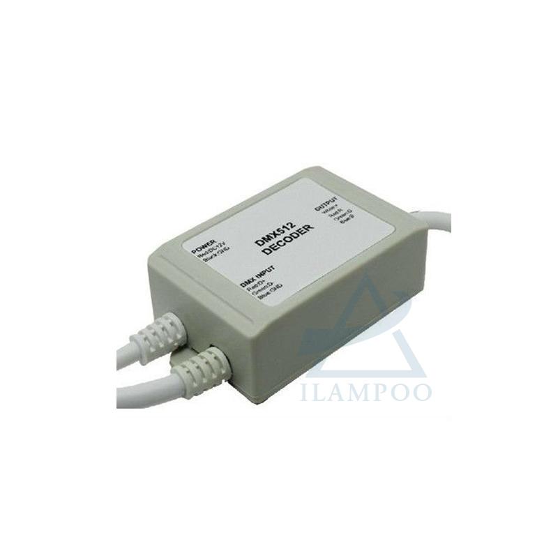 New Led RGB DMX Controller Rgb Led Strip Dmx Decoder 12V Rgb DMX Decoder Waterproof LN-DMXTCON(FS)-3CH-LV Free Shipping(China (Mainland))