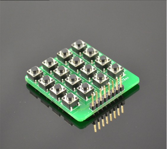 Free shipping 1pcs/lot MCU Extension 4 x 4 16-Key Matrix Keyboard Module for Arduino(China (Mainland))
