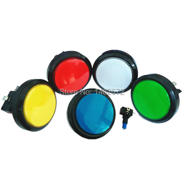 5 pcs/lot 60mm illuminated 12v LED Arcade Push Button for Mulitcade arcade machines,MAME NEW Multicolors Available(China (Mainland))