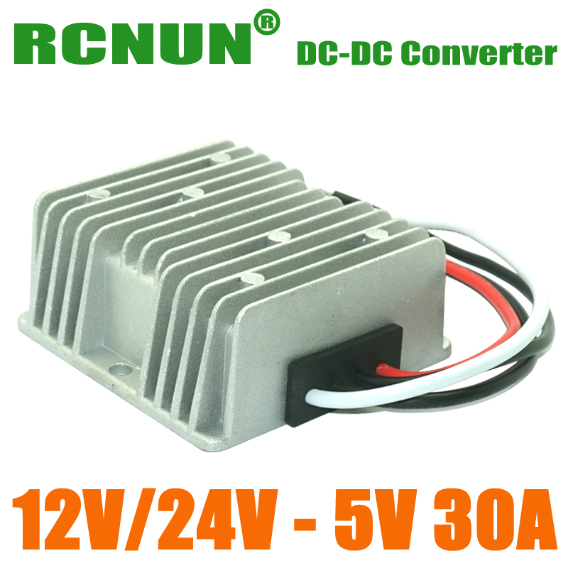 30A Waterproof DC 8-36V 12V 24V to 5V 150W DC Car LED Power Supply Voltage Converter Buck Module(China (Mainland))