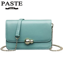 PASTE New Brand Genuine Leather Bag Women Messenger Bags Luxury Cow Leather Small Chains Strap Women's Shoulder Bag Casual Tote