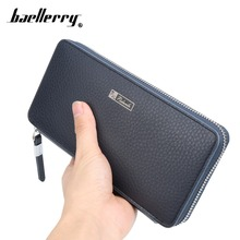 Fashion Leather Men Wallet Long Zipper Men Clutch Bag Big Capacity Card Holder Coin Purse Clutch Bags Handbag Carteira Billetera(China (Mainland))