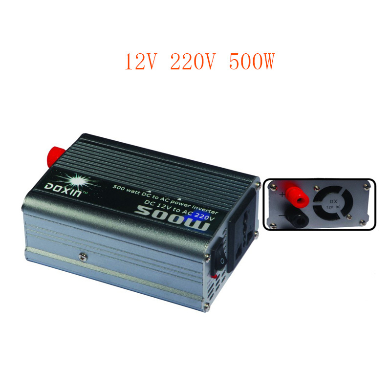 500W DC 12V to AC 220V Car Modified sine wave Inverter Power Invertor Car dc into electricity equipment Fittings Selection USB(China (Mainland))
