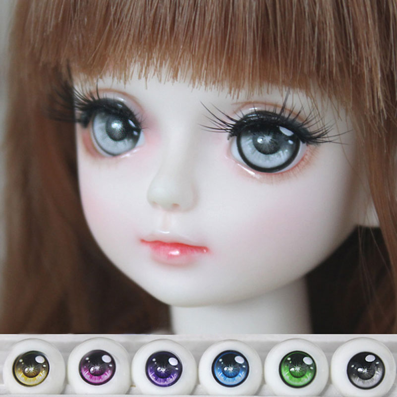 Safety Eyes BJD Doll Acrylic Eyeball Eyes 1 Pair 1/3 1/4 1/6 14mm 16mm 18mm Half Round Eyeball For Doll Accessories Kids Toys(China (Mainland))
