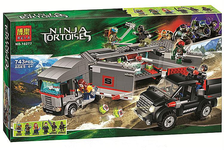 Bela 10277 Ninja Tortoise Large Truck Snow Fled Minifigures  Building Block Minifigure Toys Compatible With Lego<br><br>Aliexpress
