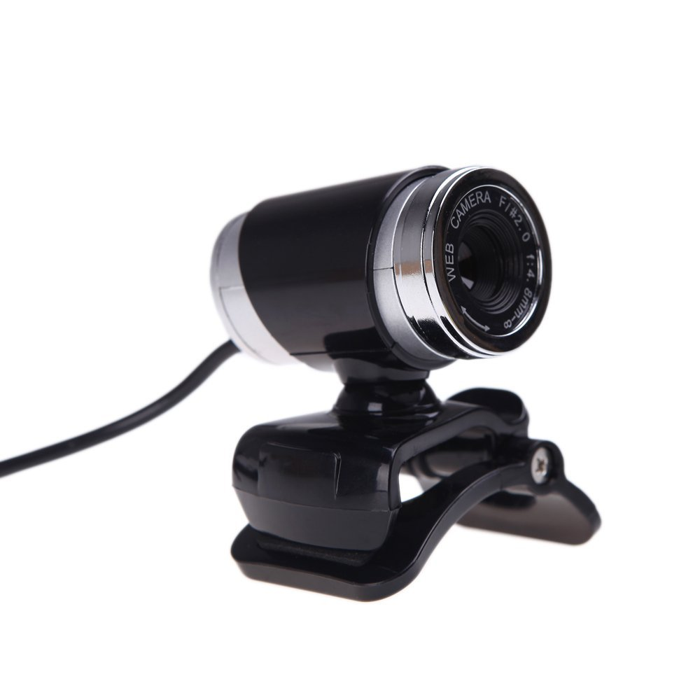 GTFS-USB 2.0 12 Megapixel HD Camera Web Cam with MIC Clip-on 360 Degree for Desktop Skype Computer PC Laptop Black(China (Mainland))