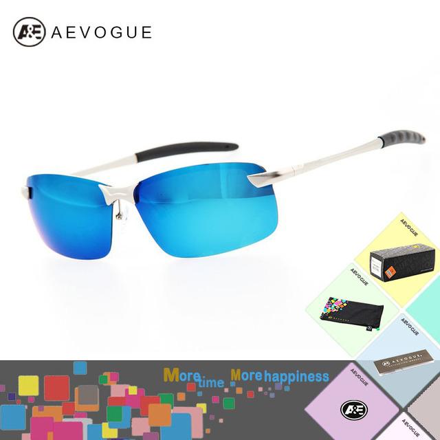 Aevogue с чехол марка спорт поляризованные солнечные очки мужчины цвет отражающий полароид линзы очки очки UV400 AE0152