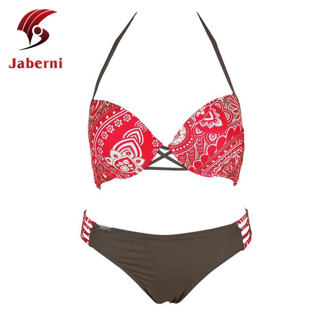 Бинты боди для пляжа австралия марка ретро комплект бикини V холтер купальники печать старинные выдалбливают купальник сексуальная костюм
