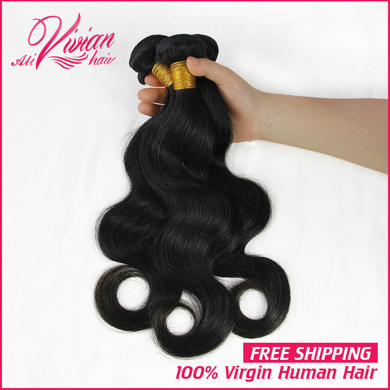 Unprocessed 3Pcs/Lot Brazil Virgin Hair Straight 100% Human Hair Weft Prom Queen Hair Products Brazil Hair Weave Bundles(China (Mainland))