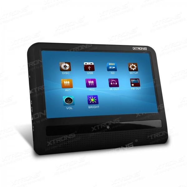"9"" HD Digital TFT Touch Screen Car Headrest DVD Monitor 800*480 IR/FM Transmitter Game/USB/SD/CD/Mp3 Portable Headrest PC(China (Mainland))"