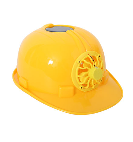 Solar energy Safety Helmet cooling cool fan delightful safety hard hats high strength ABS ventilate anti-smash hard helmets(China (Mainland))