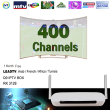 Android Tv Box Q9 Android4.4 512M/8G Wifi Quad Core + 1 Month Iptv Subscription Iptv Account 400 Arabic French Channels