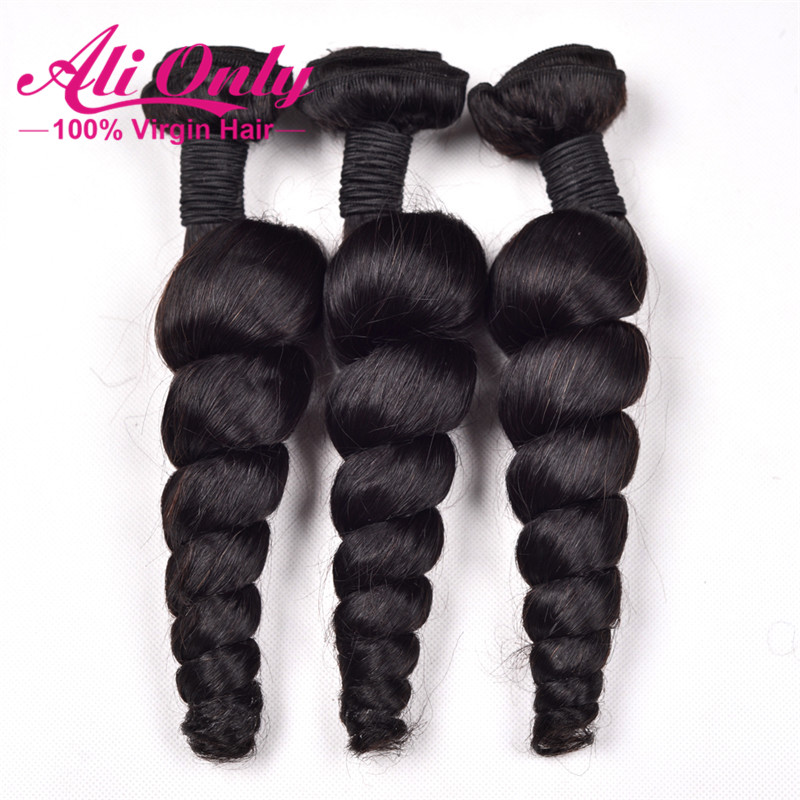 7A Unprocessed Virgin Hair Malaysian Loose Wave 3 Bundles Remy Human Hair Malaysian Virgin Hair Hot Malaysian Hair Weave Bundles