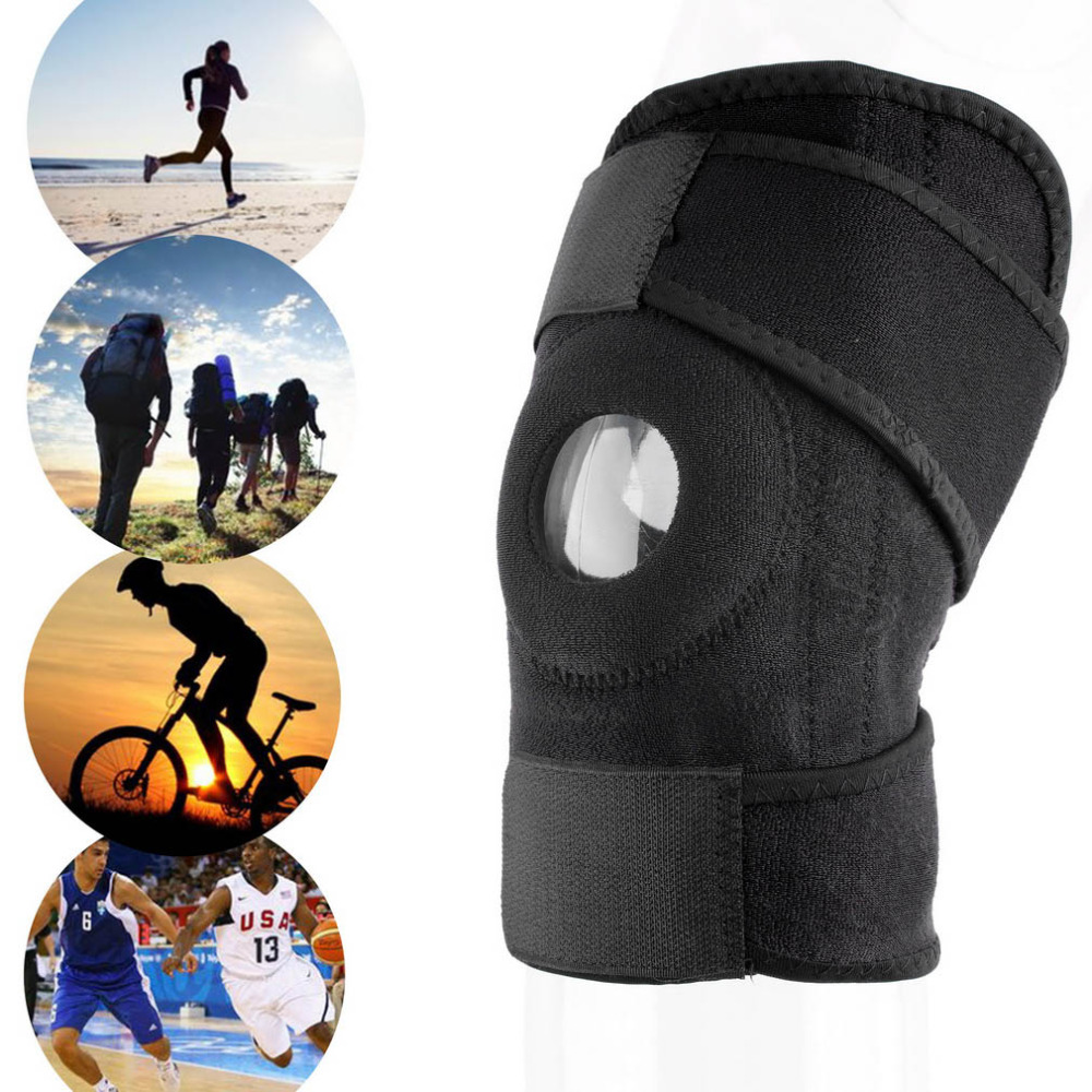 VILEAD Neoprene Knee Strap Hinged Support Sport Knee Adjustable Knee Pad Protect For Adults for Climbing Basketball and Running(China (Mainland))