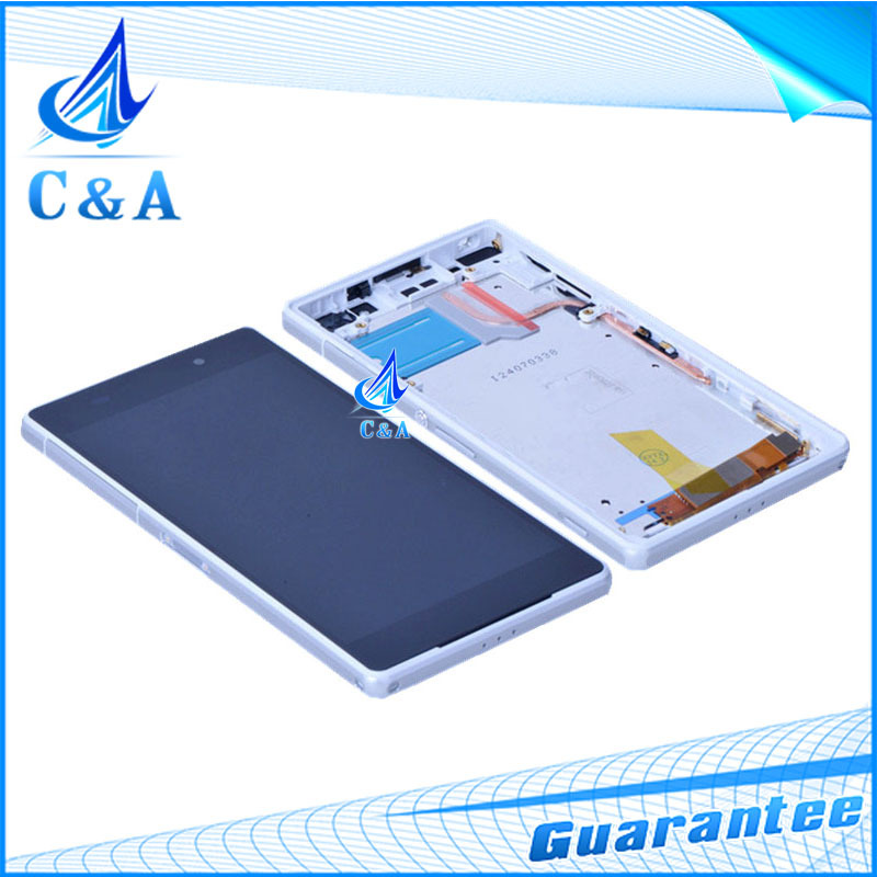 5 pcs DHL/EMS post replacement repair parts 5.2 inch screen for Sony Xperia Z2 L50w D6503 lcd display with touch+frame assembly(China (Mainland))