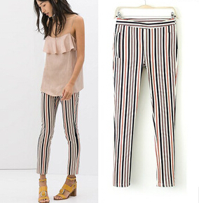 Cheap Striped Pants Women Summer New Fashion Europe and America ...