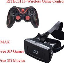 Ritech II глава гора из пластмассы VR виртуальной реальности очки магнит Google картон + Bluetooth беспроводной игровой контроллер коробка