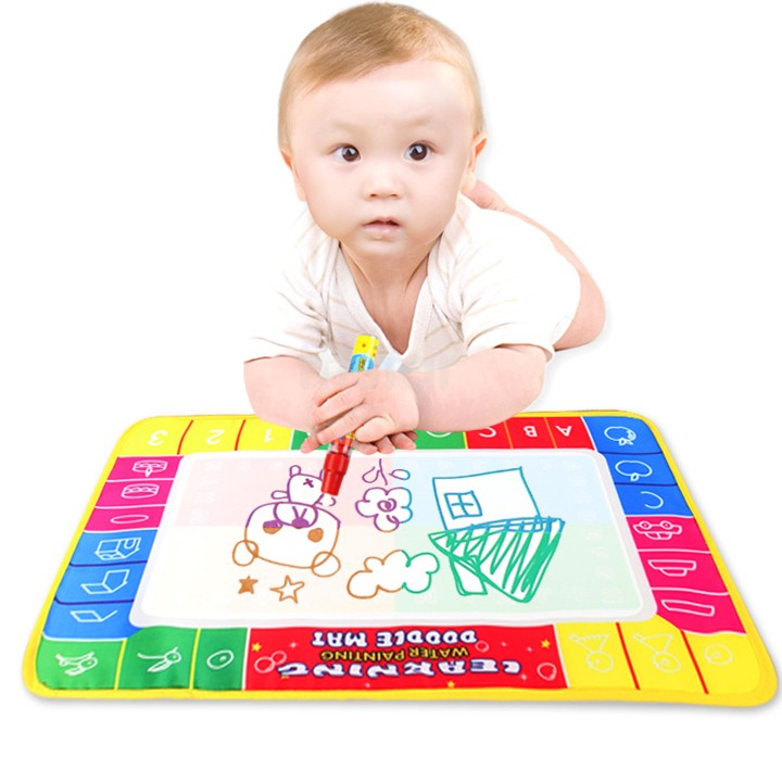 Wholesale New Cheap Baby Kids Play Water Painting Toys Mat& Doodle Magic Pen/Educational Drawing Board 45*29cm 19383(China (Mainland))