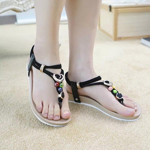 Beautiful 2015 New Summer Shoes Woman Sandals Women Sandal For Women Flats Flip