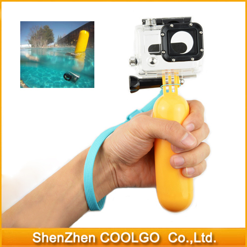Go pro Accessories Bobber Floaty Floating Hand Grip Handle Mount Accessory Float + Strap for GoPro Hero 3+ 3 2 1 SJ4000 SJ5000(China (Mainland))
