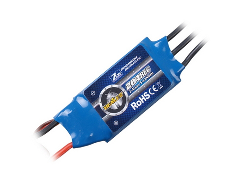 2 pcs ZTW beates brushless motor 20A speed controller ESC for 200-300 fixed-wing aircraft(China (Mainland))