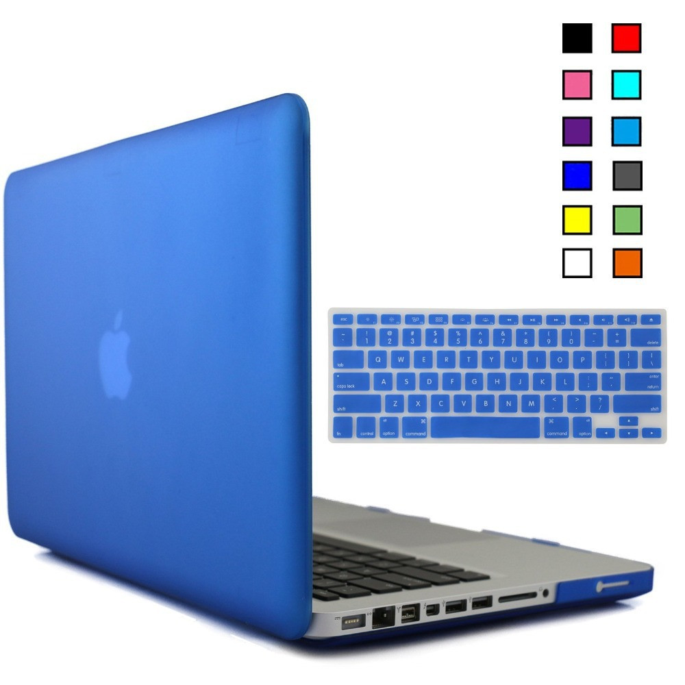 """Rubberized Matte Shell Hard Case Cover+Silicone Keyboard For Macbook Pro 13"""" 15"""" inch Laptop case Macbook A1278 A1286 portatil(China (Mainland))"""