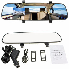 "Car DVR 2.7"" 1080P LCD HD Car Camera Dash Cam Video Recorder Rearview Mirror Vehicle DVR(China (Mainland))"