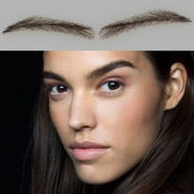 004 free shipping false eyebrows with eyebrow top/ eyebrows human hair ,100% hand made false brow with hair