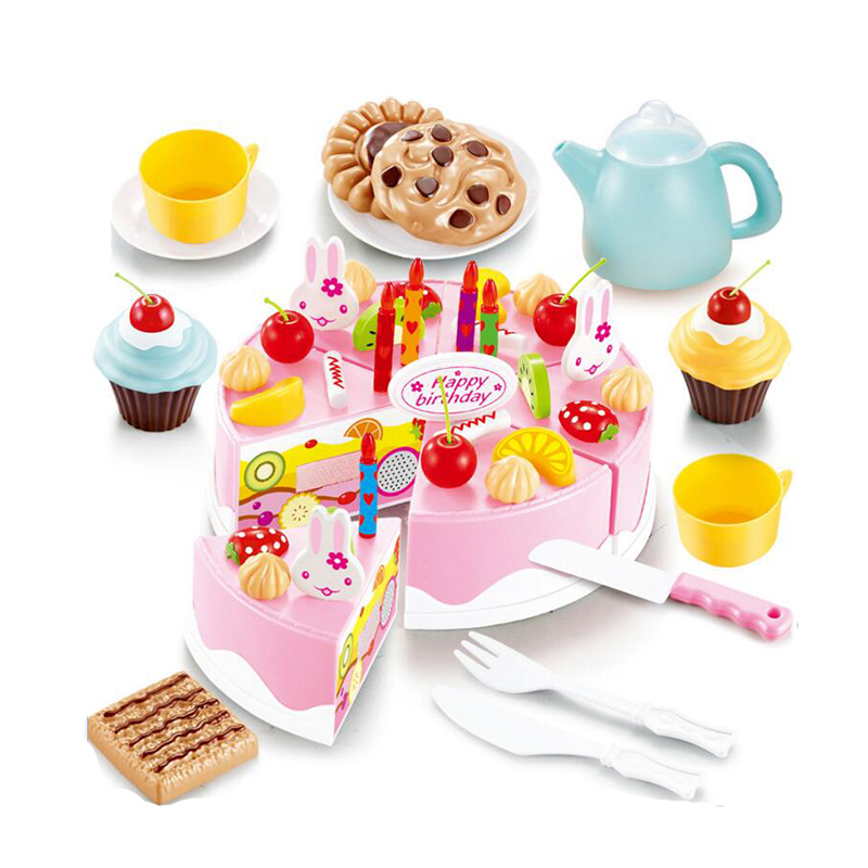 Speelgoed Keuken Accessoires Plastic : Fruit Birthday Cake
