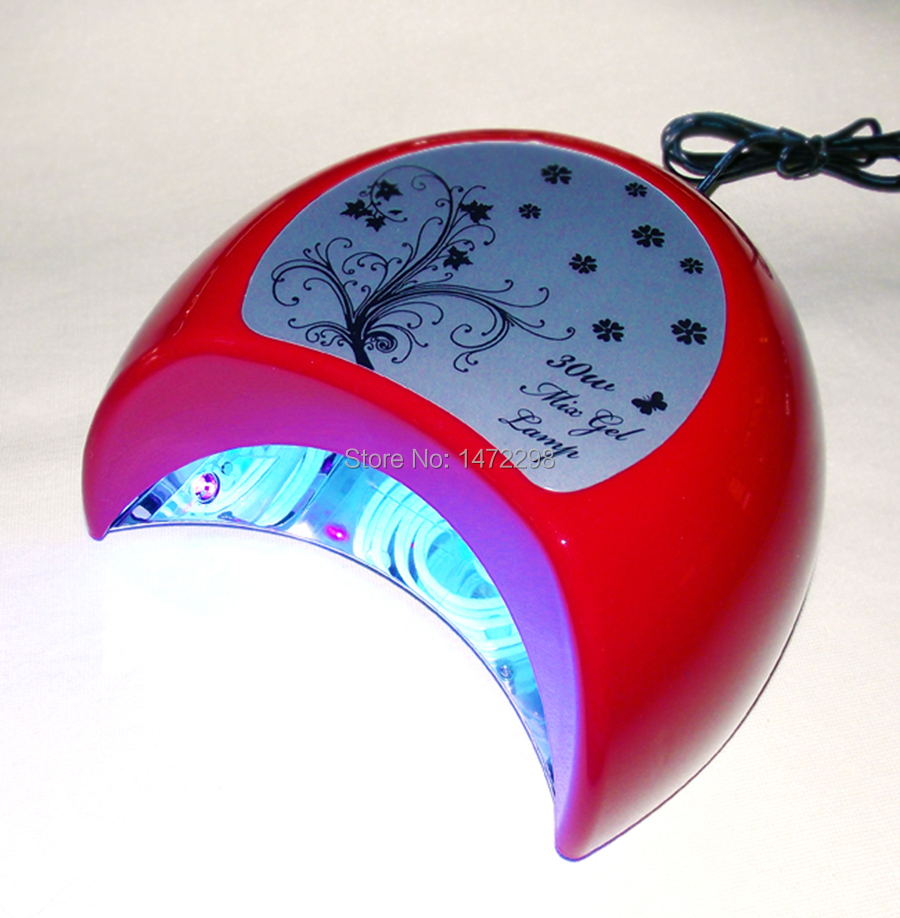 Fashing 30W CCFL & LED Nail Polish UV Lamp Best Curing Effect Dryer Gel Red - Beautify you your house store