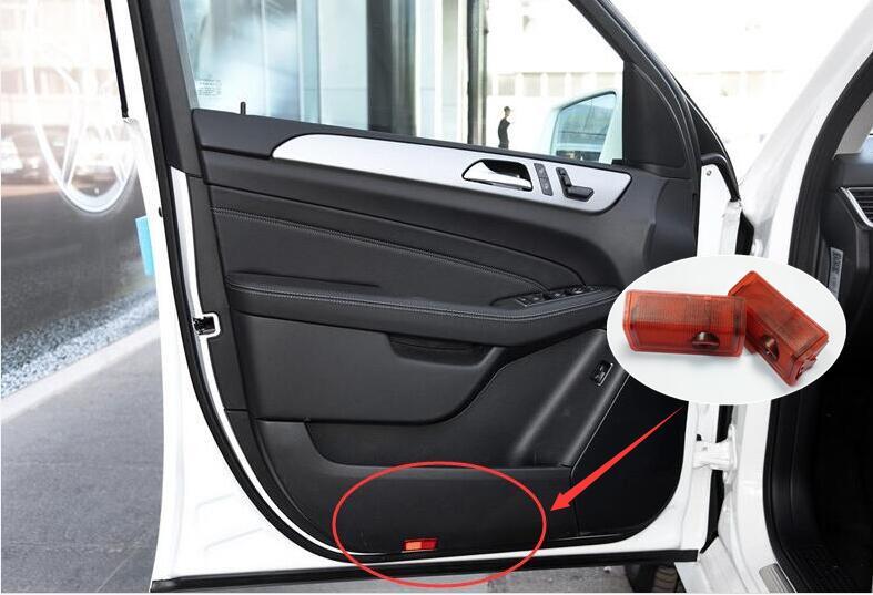 2 /pcs drill LED car Door Courtesy Ghost Shadow Logo Lights Mercedes/Benz E B C ML Class w212 w166 w176  -  PUFEITE Tech Co.,Ltd Store store