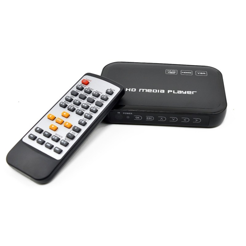Free Shipping!3D Full Hd 1080P Media Player,VGA,HDMI,AV output RMVB RM H.264 MKV AVI VOB Hdd player with IR Remote control(Hong Kong)