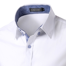 2015 M 3XL Men s Characteristic bag buckles in solid color shirts men s shirt sleeve