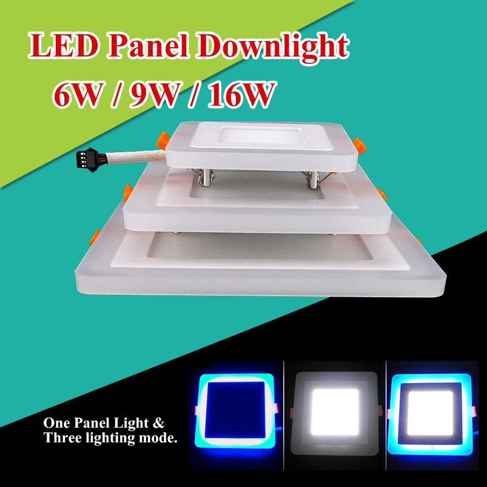 Wholesale Led Panel Light 6w 9w 16w Square 3 three model led Ceiling Recessed panel Downlight AC85-265V Painel lamp CE ROHS UL(China (Mainland))