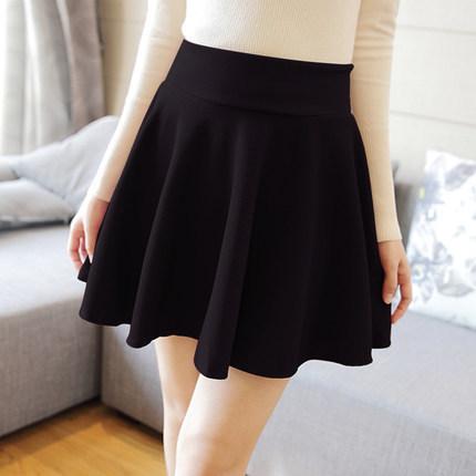 Корейский осень зима высокая высокой талией A слово юбки сладкий большой S-XL Mini